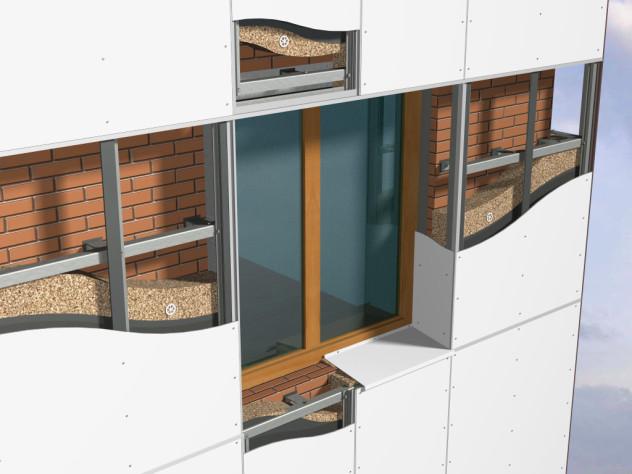 Утеплитель из минеральной ваты на системе вентилируемого фасада