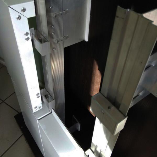 Крепление металлокассеты на крючки - зацепы