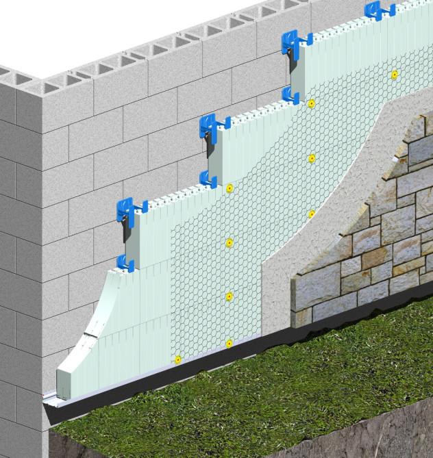 Вариант утепления стены из газобетона технологией мокрого фасада