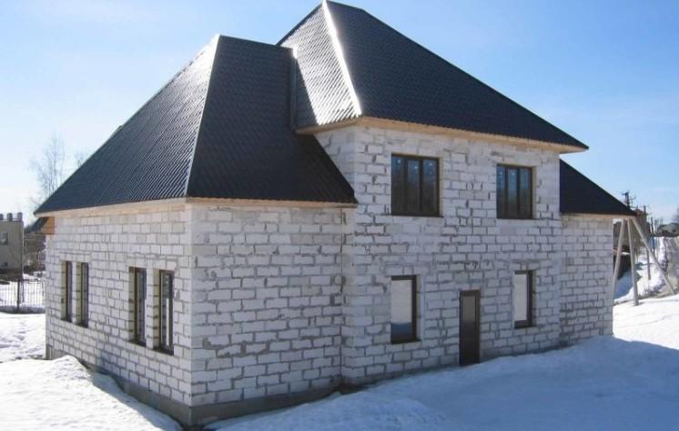 Здание построенное из блоков газобетона
