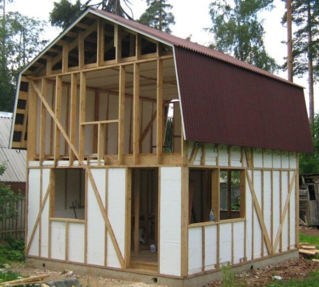 Утепление каркасного дачного дома с использованием пенопласта или пенополистирола