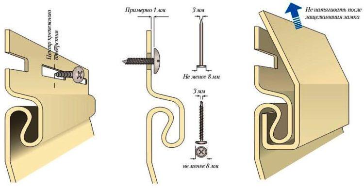 Основные положения по зазорам и креплению панелей винилового сайдинга