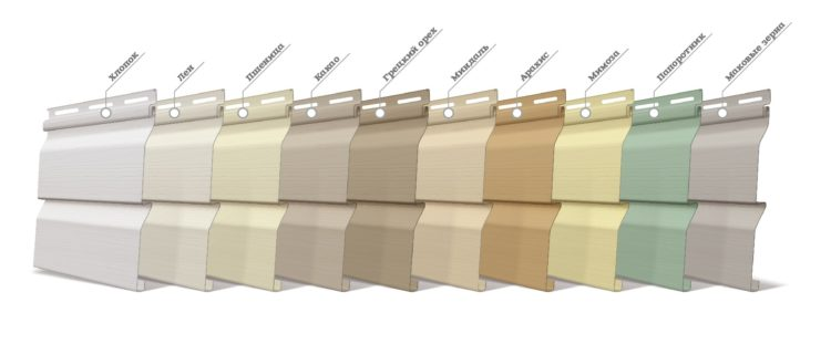 Цветовая палитра виниловых панелей отличается в зависимости от производителя
